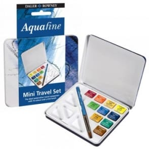 Aquafine Mini Watercolour Travel Set