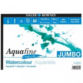 Aquafine Smooth Watercolour Jumbo Pad A4