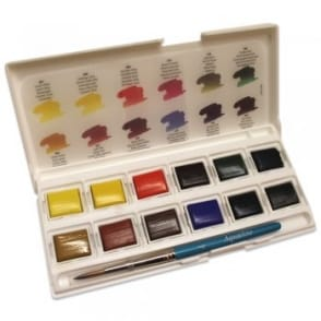 Aquafine Watercolour Pocket Artists Set