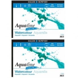 Aquafine Watercolour Smooth Pad Twin Pack A3