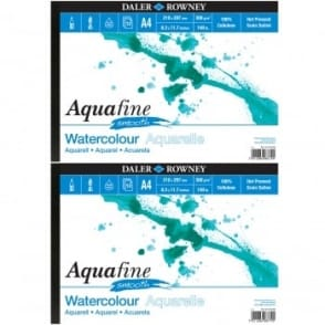 Aquafine Watercolour Smooth Pad Twin Pack A4
