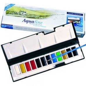 Aquafine Watercolour Whole Pan 12 Travel Set