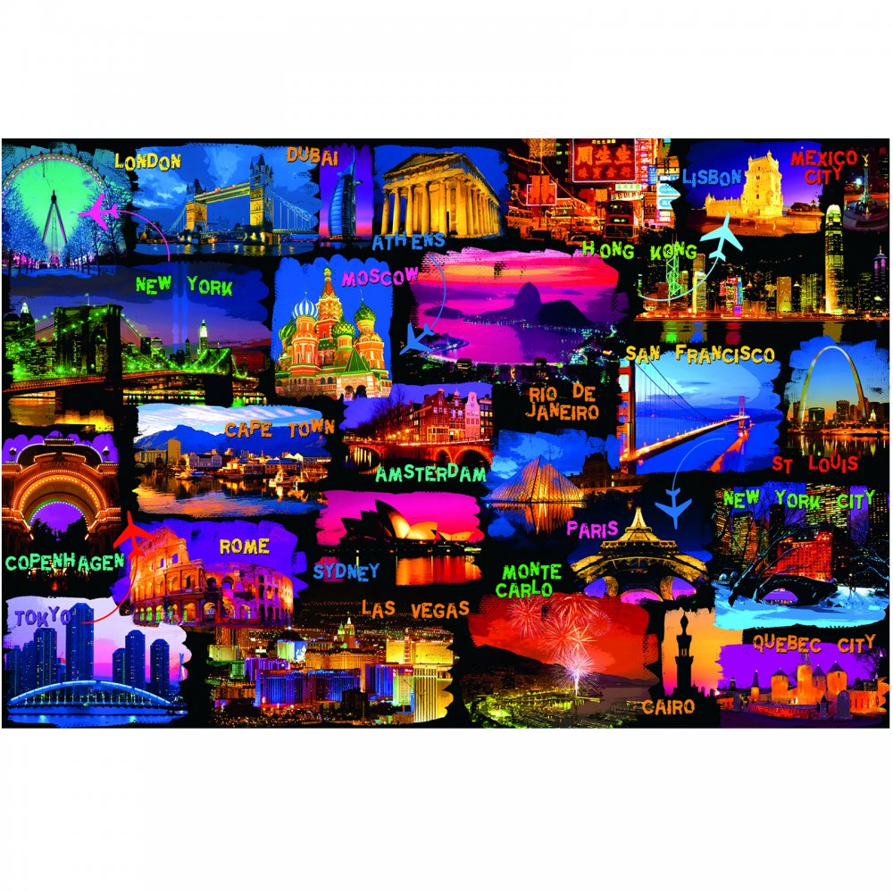 around the world 3000 piece puzzle ravensburger from uk. Black Bedroom Furniture Sets. Home Design Ideas