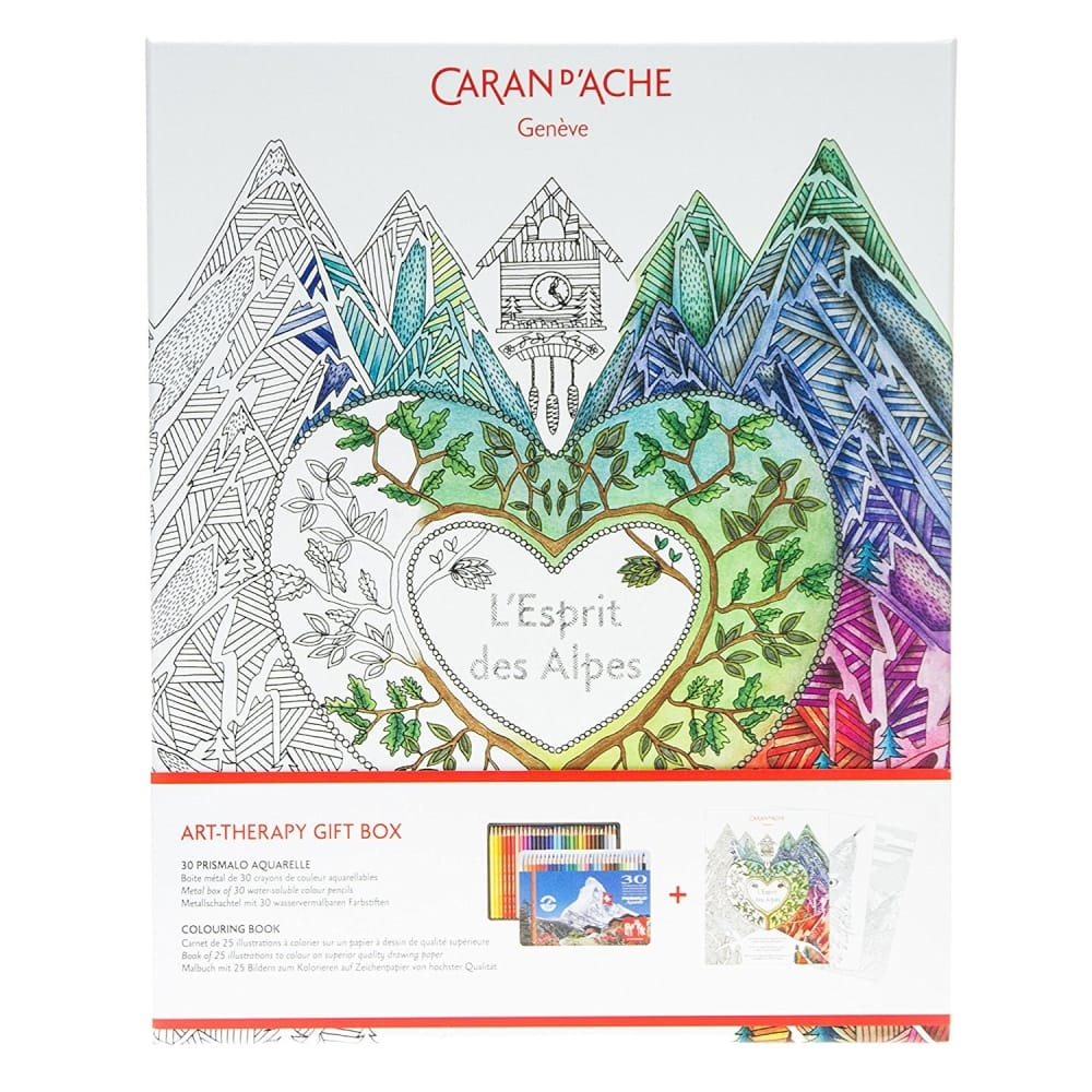 Art therapy coloring book and pencils - Art Therapy Gift Box Luxury Colouring Book And Pencils