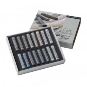 Artists Soft Pastels Grey 16 Selection