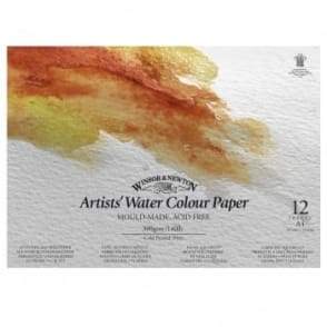 Artists Watercolour Pad A4 140lb 300GSM