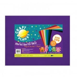 Assorted Acrylic Felt Sheets 24 Pack