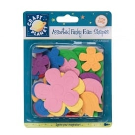 Assorted Funky Foam Shapes Adhesive