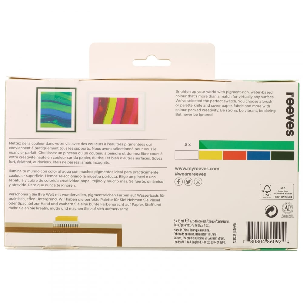 Pack of 5 Reeves Painting Palette Knives