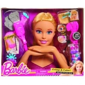 Barbie Crimp & Colour Deluxe Styling Head