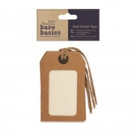 Bare Basics Kraft Pocket Tags