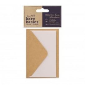 Bare Basics White Mini Cards & Envelopes*