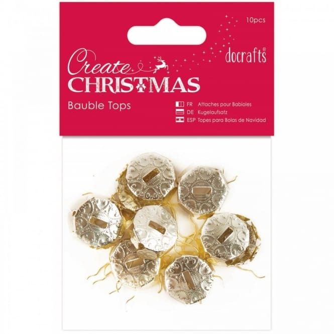 Bauble Tops Gold 10 Pieces