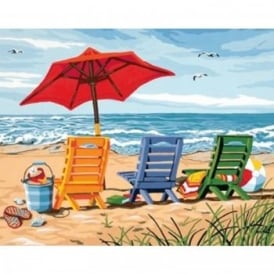 Beach Chair Trio Paint by Numbers
