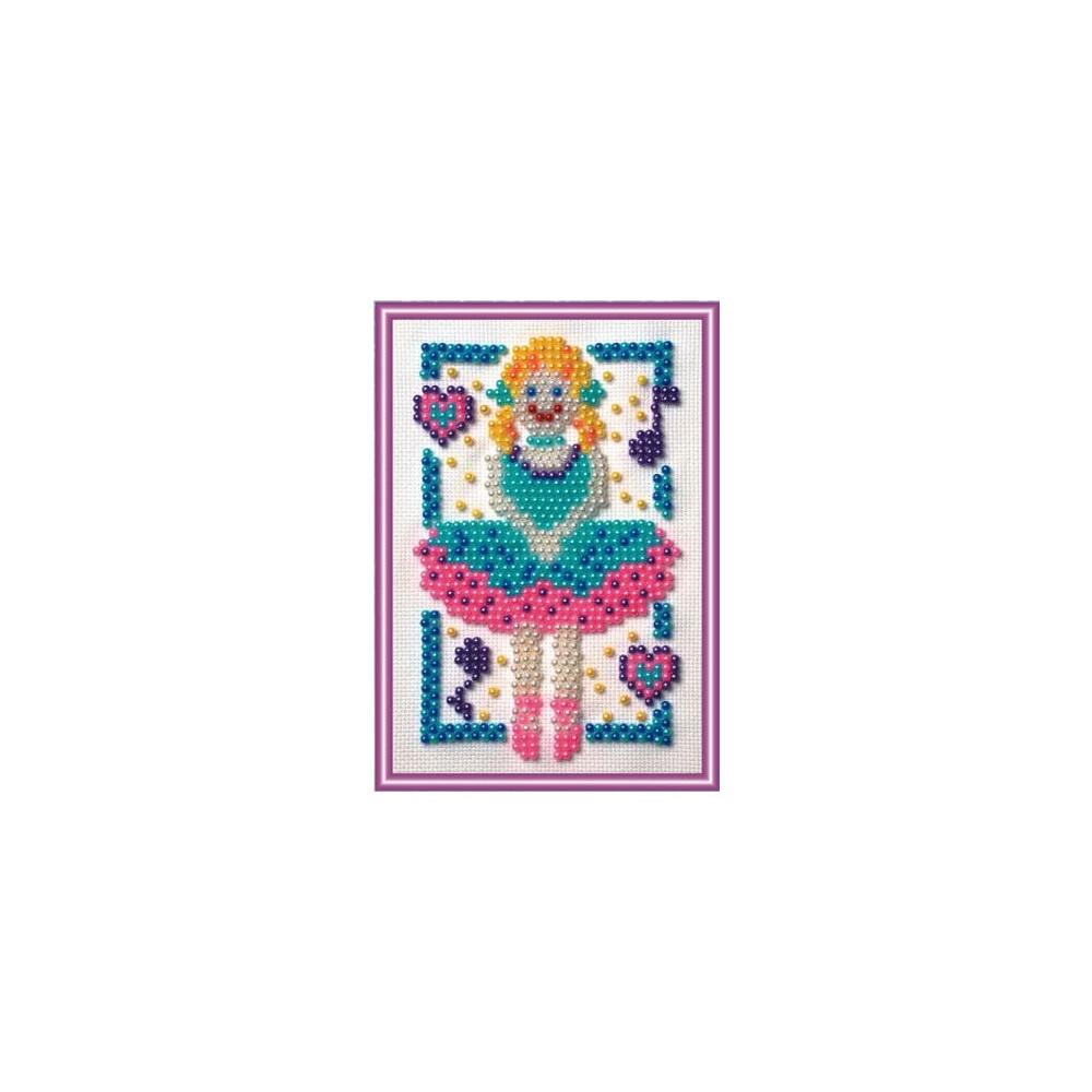 Bead embroidery kit ballerina