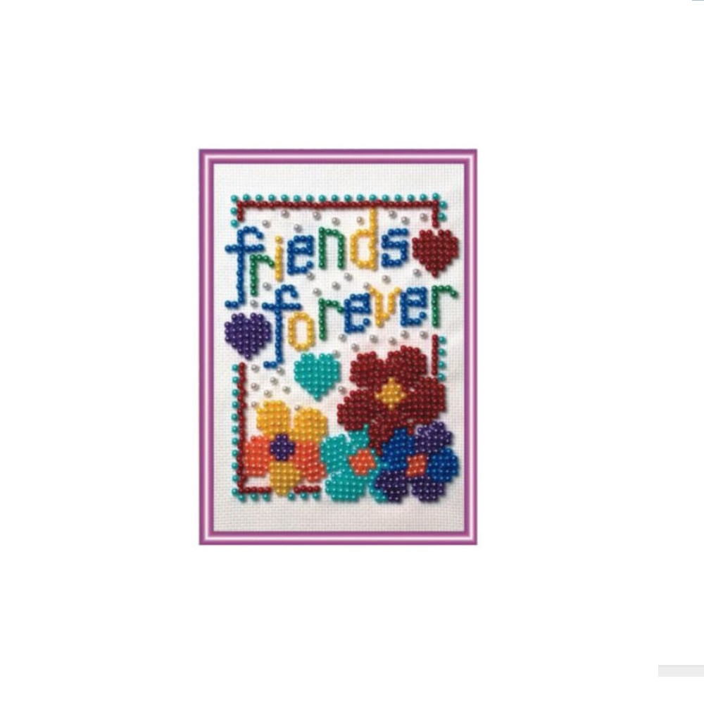 Bead embroidery kit forever friends ksg from