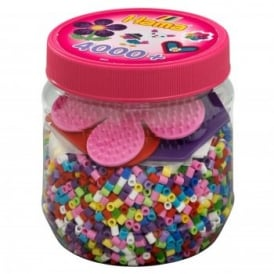 Beads & Pegboards In A Tub - Pink