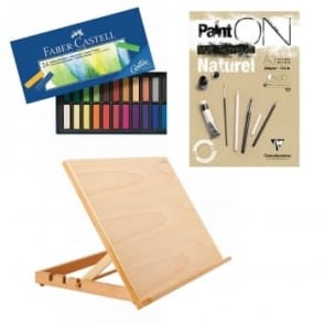 Beginer Pastel Set, Workstation and A3 Pad Bundle