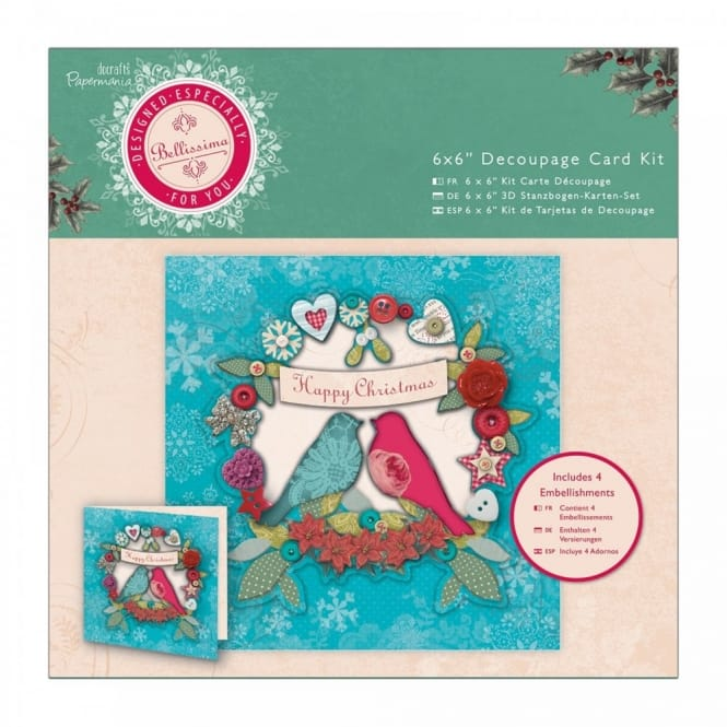 "Bellissima Christmas 6 x 6"" Decoupage Card Kit"