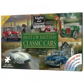 Best of British Classic Cars - 4 x 250 Piece Puzzle