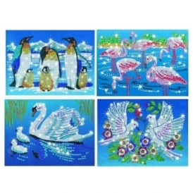 Bird Collection Sequin Art & Beads 4 pack Bundle