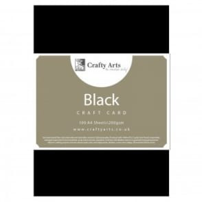 Black Craft Card - 100 Pack