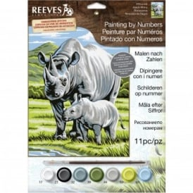 Black Rhino Junior Paint by Numbers