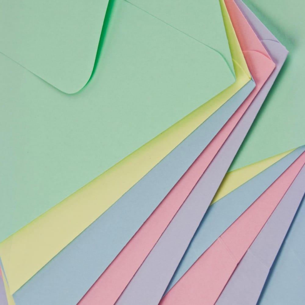 blank pastel cards  envelopes pack of 50 c6  craftyarts