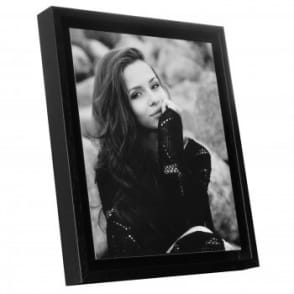 "Boxed Panel Black Edged Photo Frame 8 x 6""*"