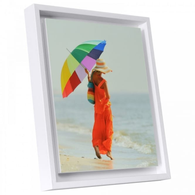 Boxed Panel White Edged Photo Frame A4*
