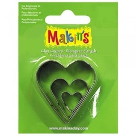 Brand Set of 3 Heart Cutters