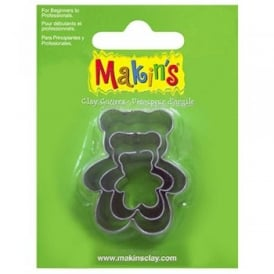 Brand Set of 3 Teddy Bear Cutters