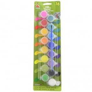 Bright Acrylic Craft Paint 16 Colours