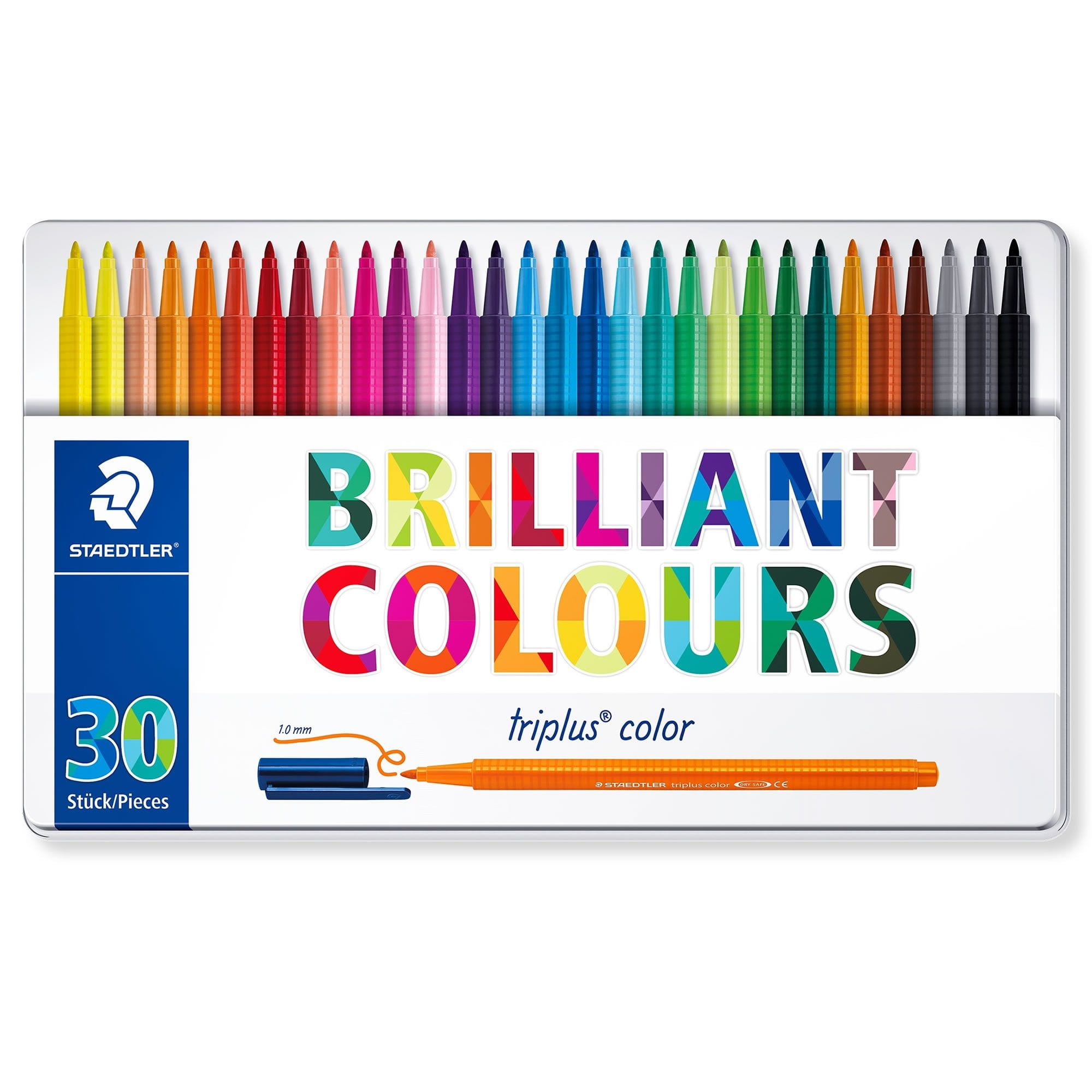 30 Pack Colour Therapy Regular Colouring Pencils In Presentation Gift Tin