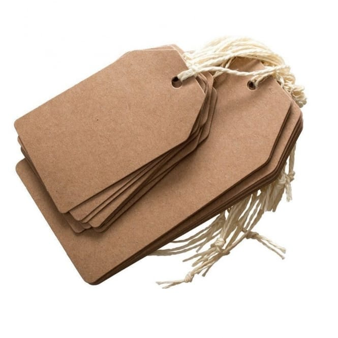 Brown Kraft Tags 2 Pack 2 Sizes
