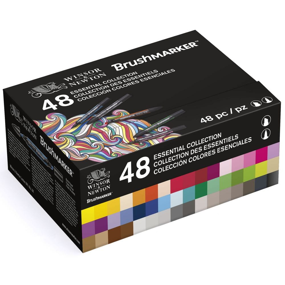 Essential Collection Winsor /& Newton ProMarker Set of 48