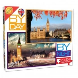 By Day By Night London - 2 x 500 Piece Puzzle*