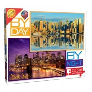 By Day By Night New York - 2 x 500 Piece Puzzle*