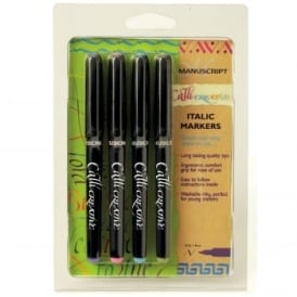 Callicreative Assorted Colour Italic Fine Marker Pen Set