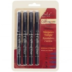 Callicreative Black Italic Marker Pen Set