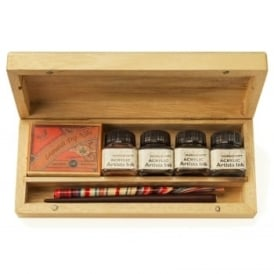 Calligraphy Artist Dip Pen Wooden Box Set