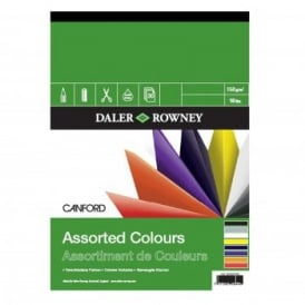 Canford Coloured Gummed Pad A4*