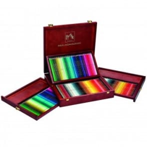 Caran D'Ache Wooden Box of 160 Pencils - 80 Supracolor Pencils & 80 Pablo Pencils