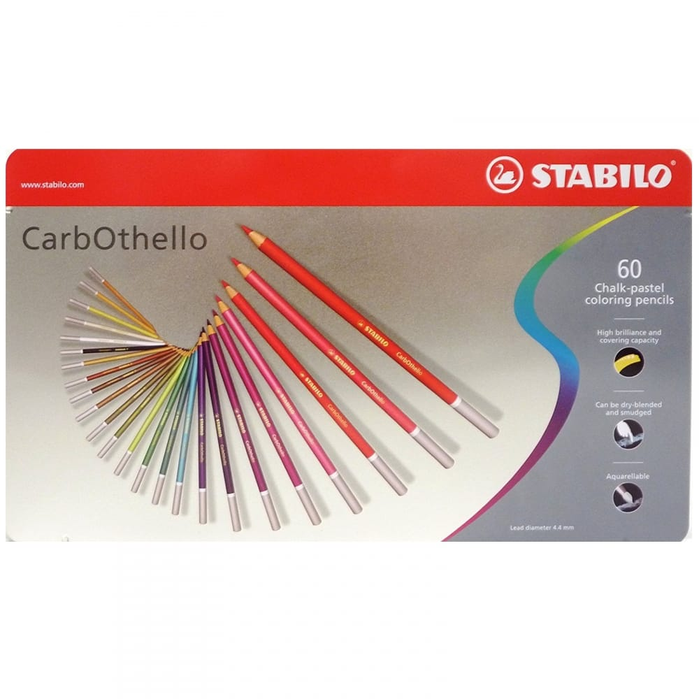 STABILO CarbOthello Pastel Chalk Pencils  in A Wooden Presentation Assorted...