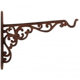 Cast Iron Large Basket Ornate Wall Bracket