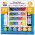 Ceramcoat Acrylic Paint Superpack 24 Bright Colours