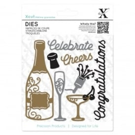 Champange Celebration 10 Piece Die Set