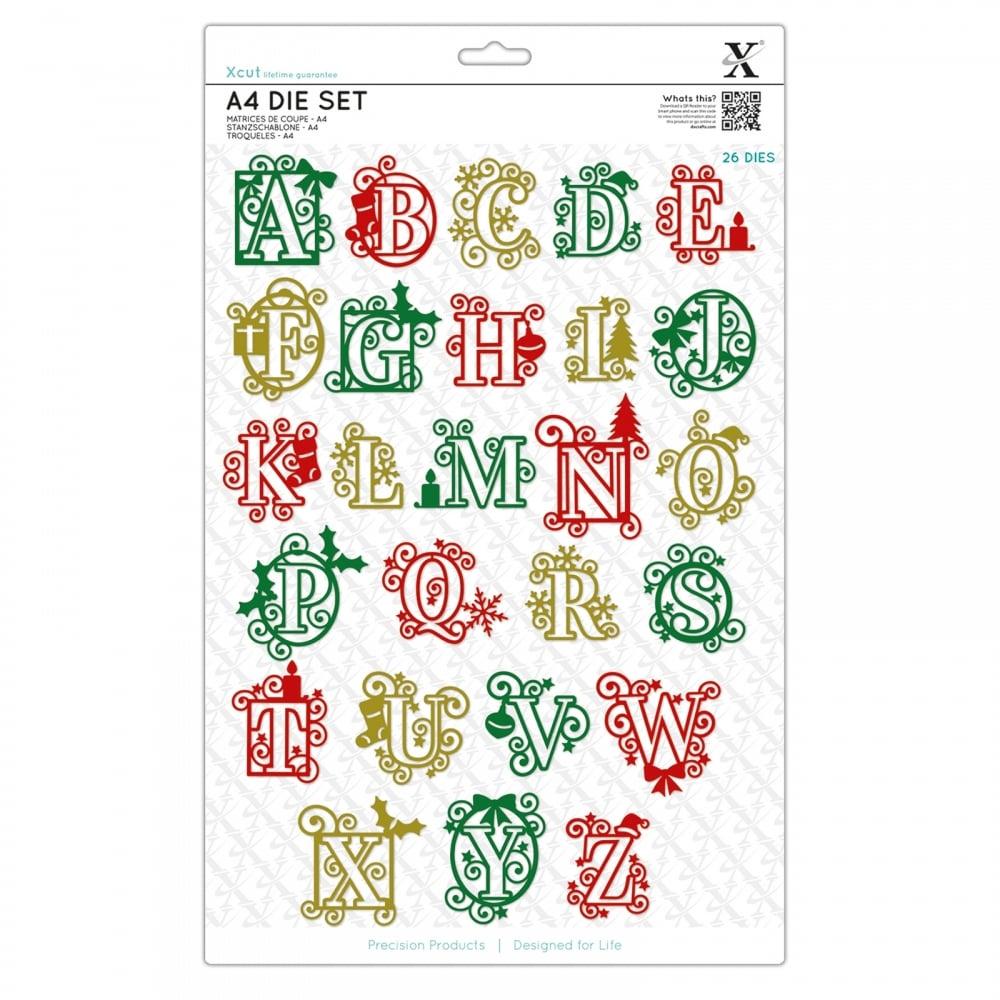 Christmas Alphabet.Christmas Alphabet 26 Dies