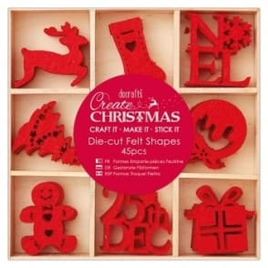 Christmas Felt Shapes 45 Set