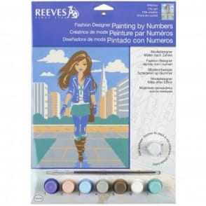 City Girl Fashion Designer Junior Painting By Numbers